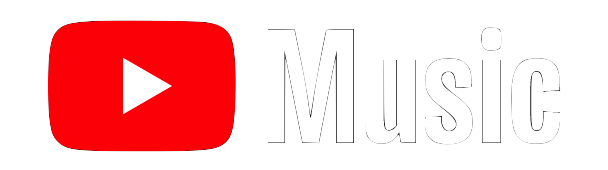 youtube-music white logo